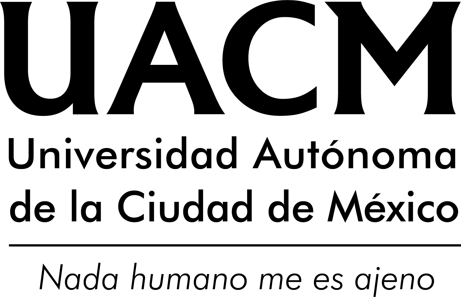 Logo de la UACM, nada humano me es ajeno